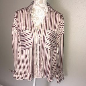 Free people button down striped shirt